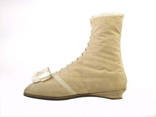 1815 Ankle Boot, British, Nankeen. museumoflondon.org.uk