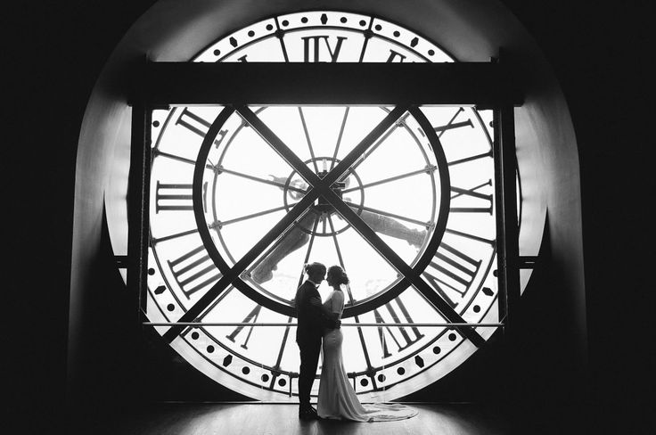 Photo in front of the clock in the Musee D'Orsay