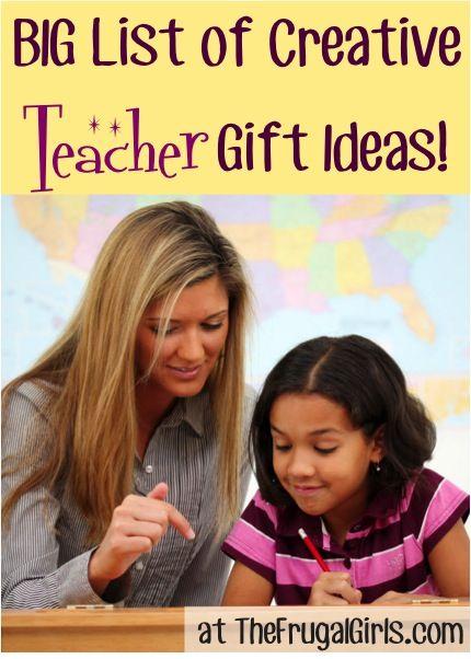 22 Creative Teacher Gift Ideas! ~ from TheFrugalGirls.com #teacher #gifts