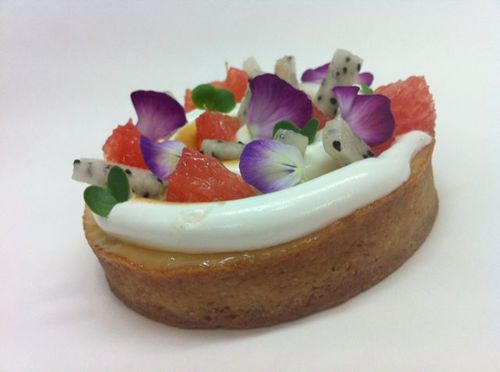Tartelette pamplemousse fruit du dragon meringue litchi Soho