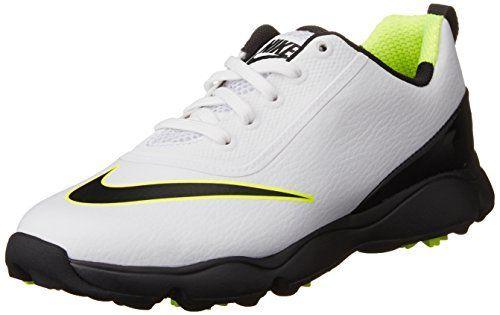 UK Golf Gear - Nike Unisex Kids Control Jr Golf Shoes, White (White/Black/Volt), 1.5/2 UK