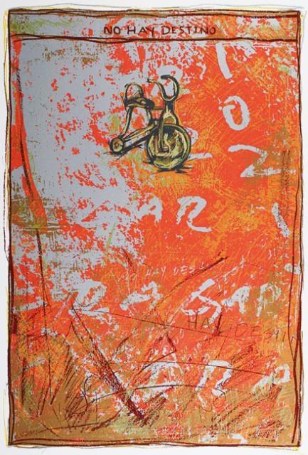 Manuel Velazquez  No Hay Destino, 2006  Screenprint