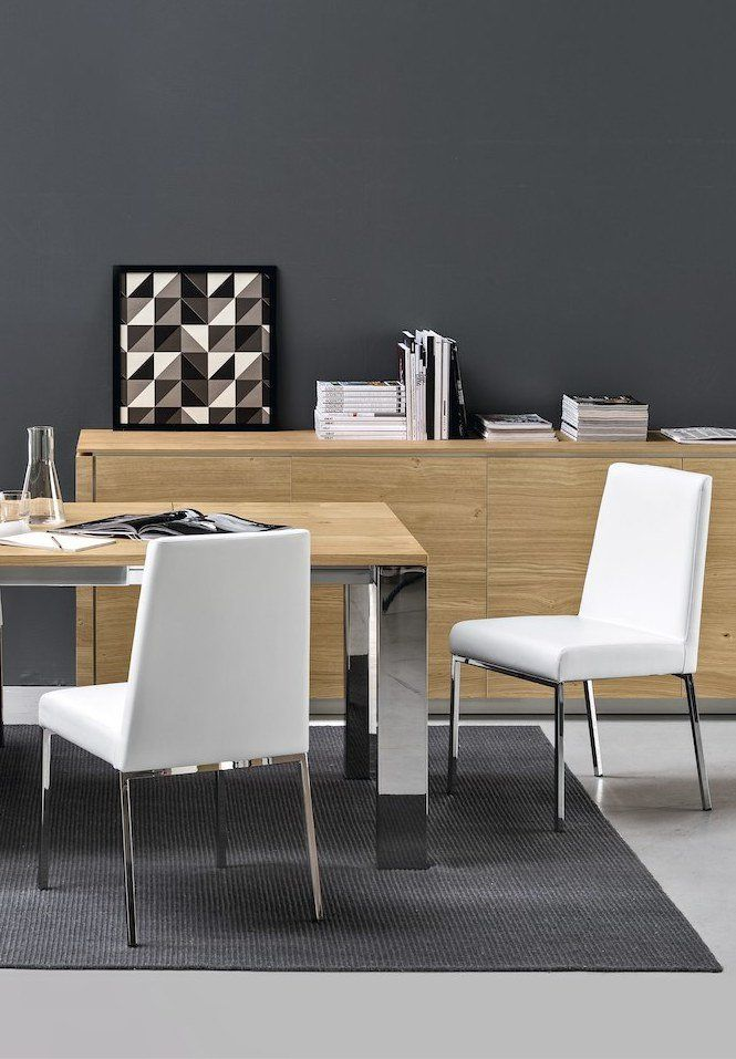 Connubia Calligaris | Amsterdam Dining Chair | Available In Faux And  Genuine Leather.