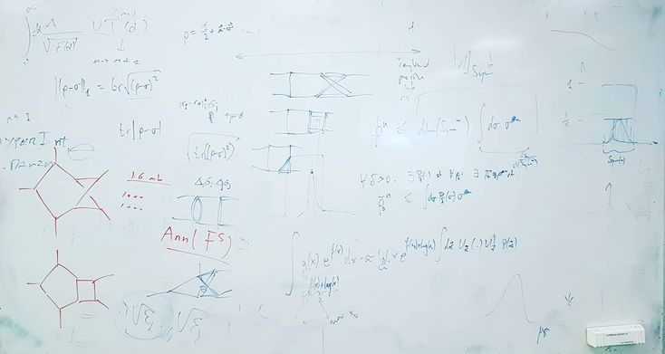 Messy whiteboards of ETH vol. 3: On this whiteboard we see a good mix of particle physics theoretical physics and mathematics - which is almost the same anyway it often feels like when you spend three months on a single calculation... . . . #ethz #ethzurich #eth #zurich #zürich #züri #university #uni #doctoralstudent #research #theoreticalphysics #physics #phdlife #phd #graduate #student #studentlife #study #whiteboard #quantum #mechanics #school #switzerland #schweiz #instadaily #matter…