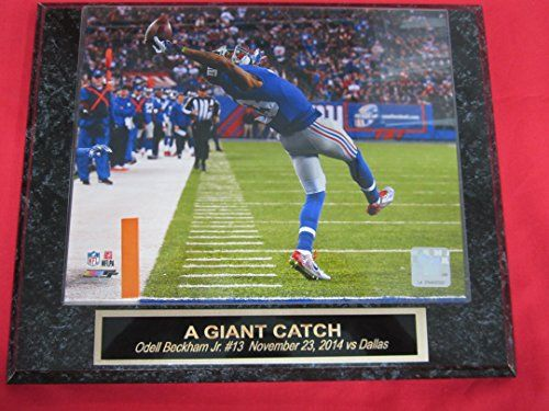 Odell Beckham Jr New York Giants Collector Plaque #1 w/8x10 Photo THE CATCH