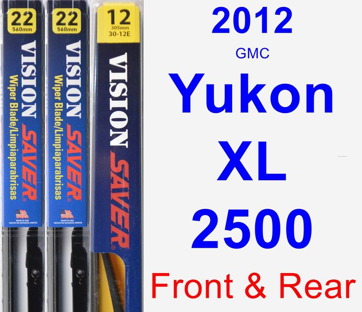 Front & Rear Wiper Blade Pack for 2012 GMC Yukon XL 2500 - Vision Saver