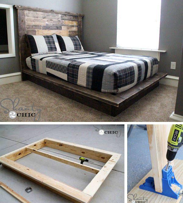 die besten 25 holzbett selber bauen ideen auf pinterest holzbett designs holzbalken bett und. Black Bedroom Furniture Sets. Home Design Ideas