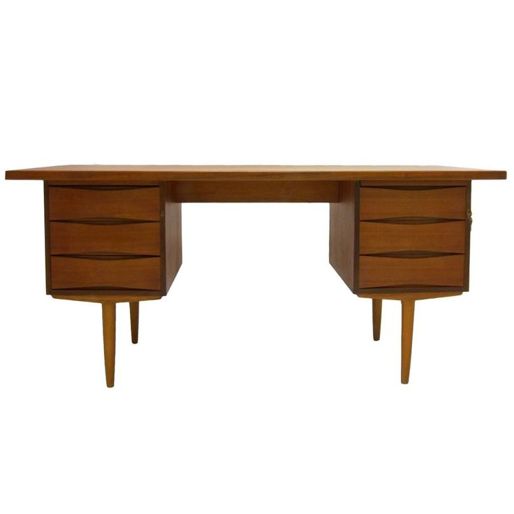 Excellent Sleek and Functional Arne Vodder Teak Desk with File Drawer