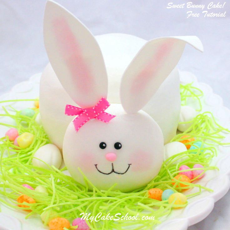 Bunny Cake Pop With Fondant Idea
