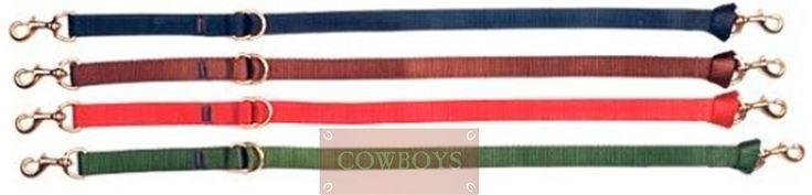 Cabo para Gamarra Equitech   Cabo para gamarra em nylon de 2,5 cm. Possui 2 mosquetões reforçados e meias argolas em latão.