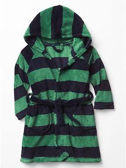 Fleece stripe sleep robe