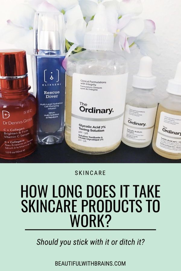 How Long Does It Take Skincare Products To Work Oil Skin Care Routine Skin Care The Ordinary Products