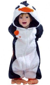Disfraz de Pingüino Pelele bebé