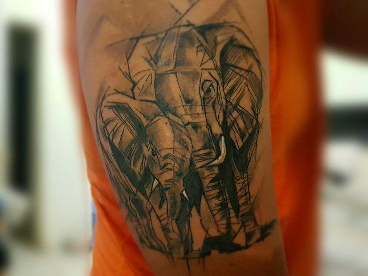 Tatuaje elefantes