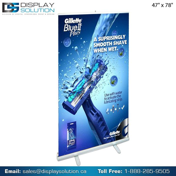 These banner stands are perfect for trade shows and conferences, indoor, outdoor events, retail stores, banks and office space. Ours Banner Stands are lightweight yet strong and durable, easy to carry, set up, and store. It can be various in widths and can be single sided or double sided, great for conferences and large space exhibitions, conference halls, store- fronts, schools and more.  Visit our online store: https://displaysolution.ca/banner-stand.html