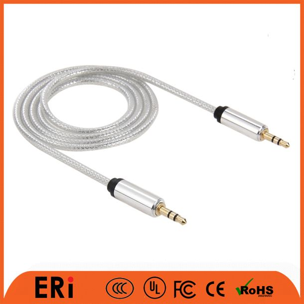 1 to 3 audio splitter cable with mini usb to 3.5mm jack cable for custom order aux cable