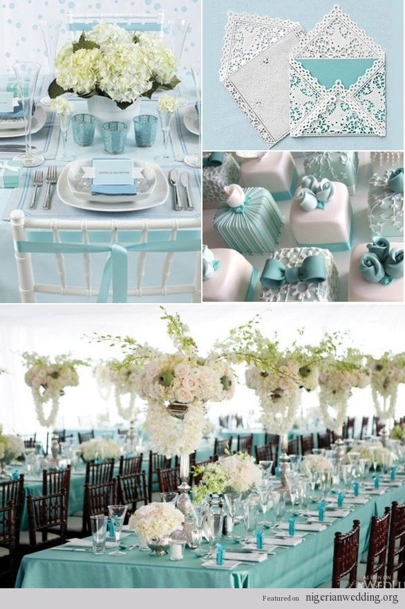 Blue themed wedding