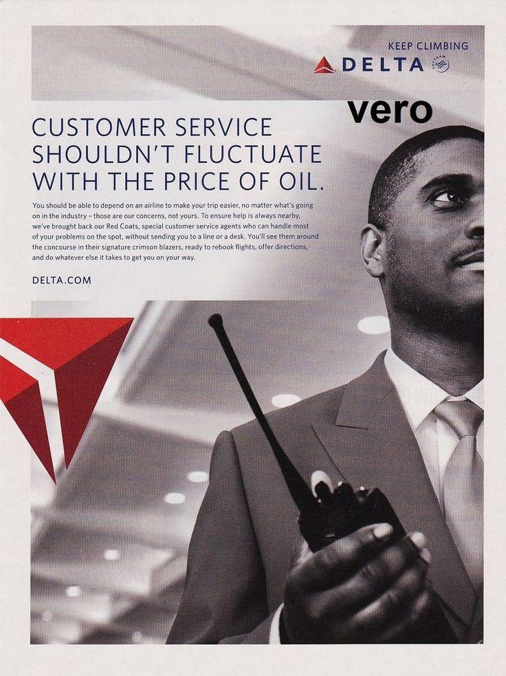DELTA  AIRLINE 2011 magazine ad print clipping advertisement CUSTOMER SERVICE