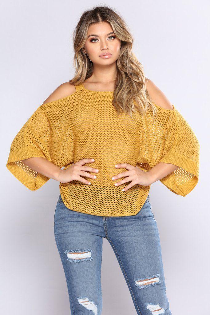 Knit My Heart Sweater - Mustard