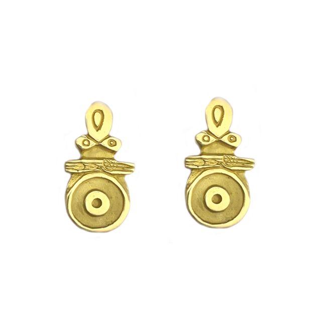 Boucles d'oreilles Célis en or jaune collection Antique de la maison Taillandier. http://www.luc-t.com