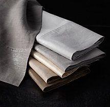 Belgian Linen Metallic Guest Towels (Set of 2)