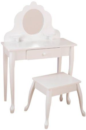 $199.99 (CLICK IMAGE TWICE FOR UPDATED PRICING AND INFO) KidKraft Medium Diva Table & Stool. See More Girls Vanity Mirrors at http://www.zbuys.com/level.php?node=4236=girls-vanity-mirrors