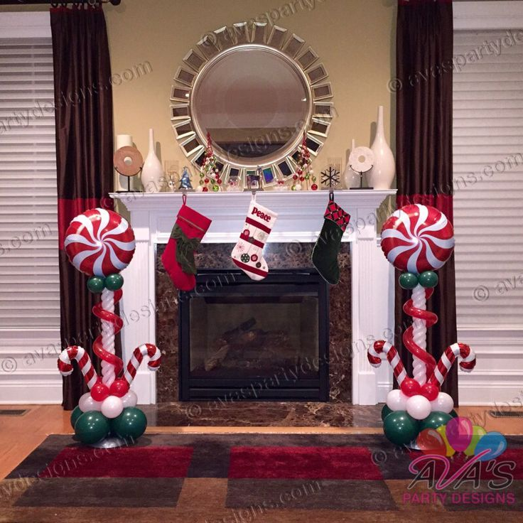 8 best christmas balloon decor images on pinterest for Candy cane balloon sculpture
