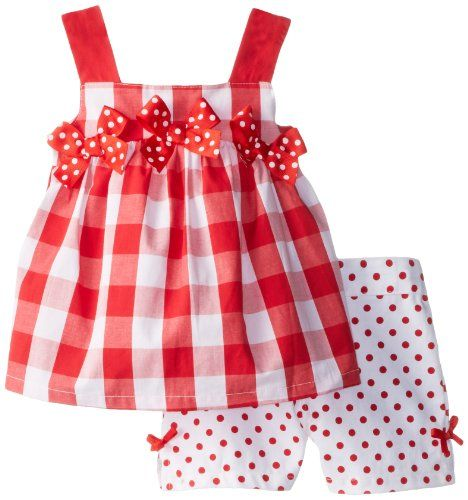 Kids Headquarters Girls 2-6X Checked Bow Top Short Set, Red/White, 3T Kids Headquarters,http://www.amazon.com/dp/B00HYU09W8/ref=cm_sw_r_pi_dp_MFSttb182SK7PE40