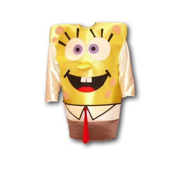 Disfraz de Bob esponja.  Si tu amigo es un verdadero Bob Esponja cuando sale por la noche, este es el disfraz ideal para su despedida de soltero.