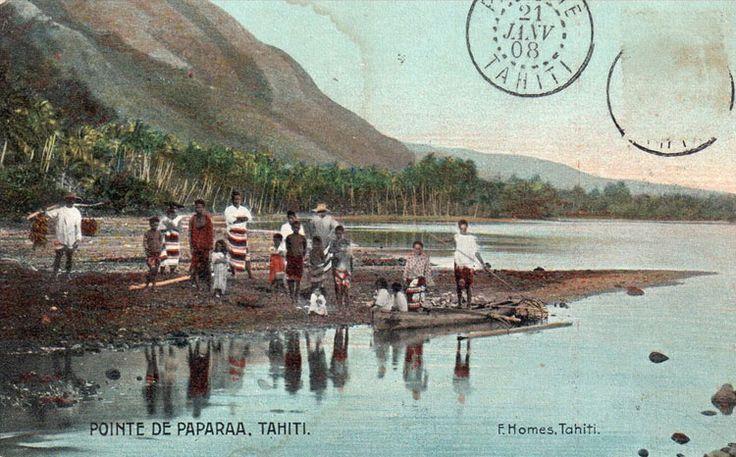 Tahiti, pointe de Papara vers 1900. #tahiti #tahitiheritage #vintagetahiti #remember