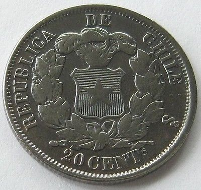 Чили, СЕРЕБРЯНАЯ МОНЕТА 20 сентаво 1866, редкий, с деталями! in Монеты и банкноты, Монеты: страны мира, Южная Америка | eBay