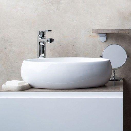 Palma White Ceramic Counter Top Basin