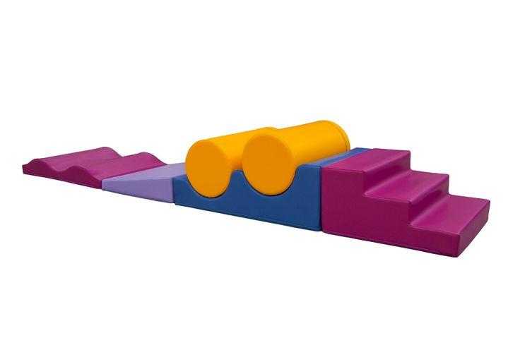 Parcours de motricité « Obstacles » (6 modules) – Parcours de motricité avec 1 escalier 3 marches, 1 rampe basse, 1 vague plate 2 ondulations, 2 cylindres diam 24cm et 1 ondulation concave. #espace #enfant #enfance #enfantin #jouet #jeux #motricité #parcours #obstacle #lieux #commerciaux #publics #pharmacies #opticiens #CHR #GMS