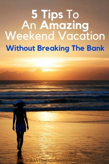weekend vacation essay A perfect vacation is in my opinion, would be a vacation that would be thoroughly enjoying and refreshing first of all, there would be a planning for the vacation and would be around for a week this has to be a different type of place that the vacation taker usually lives in usually, people enjoy.