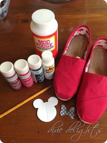 DIY Disney toms! I will be making a pair of these in the upcoming months!