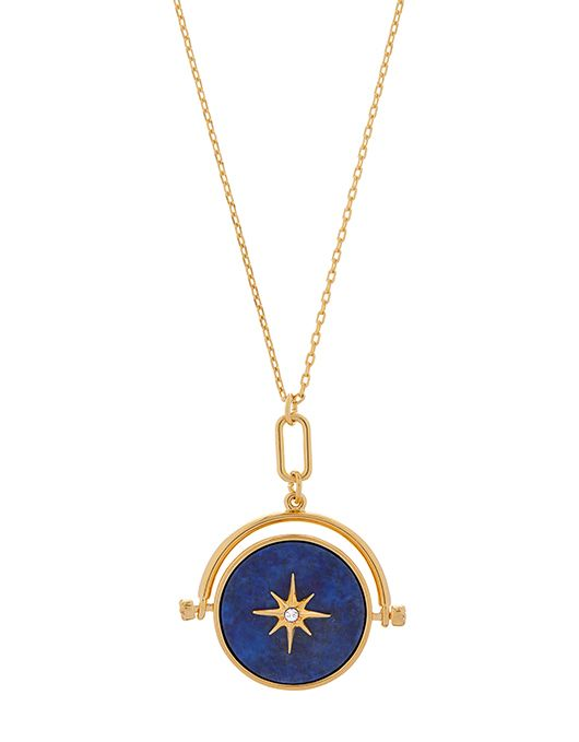 246cbef8d2a87 Lapis Spinning Pendant Necklace | Blue | One Size | 6857894000 ...