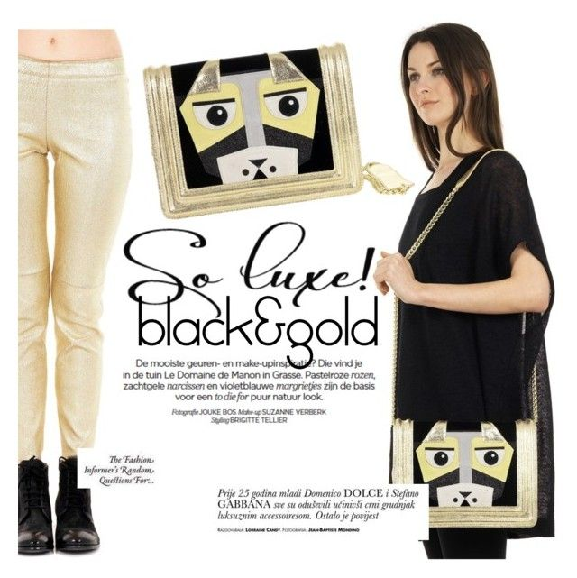 Black&gold! by thequeenstore on Polyvore featuring moda, STOULS and Maison Margiela