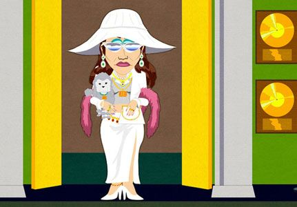 Jennifer Lopez on South Park. Where's that filthy whore?