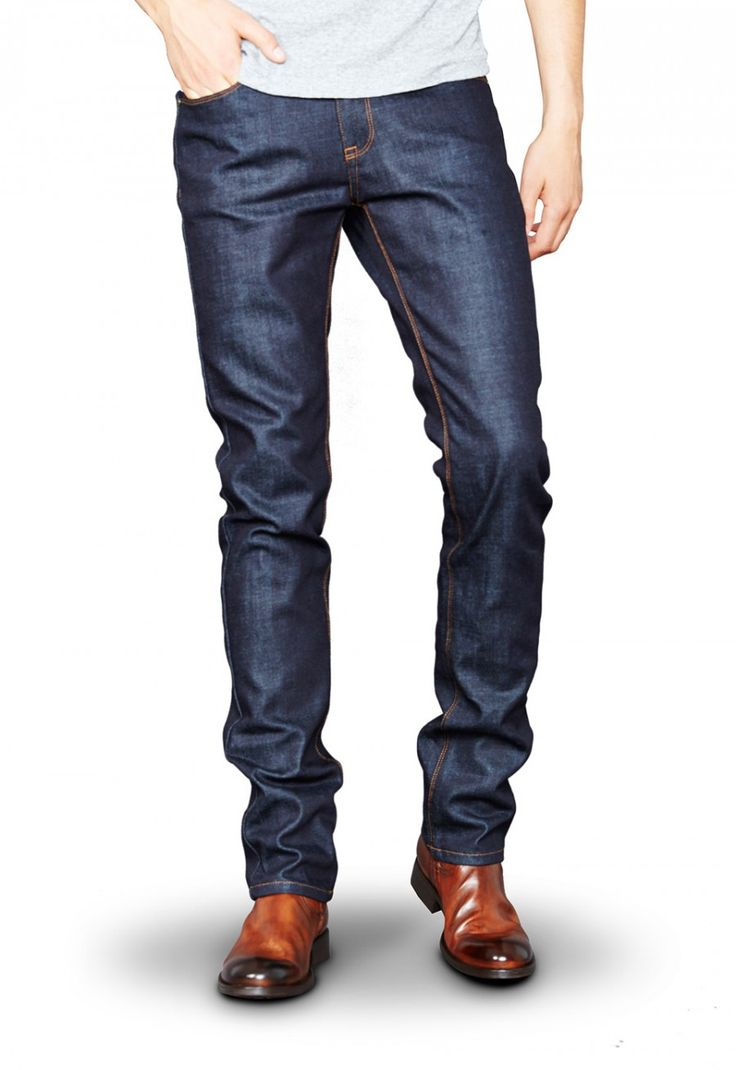 Check out these amazing raw denim jeans from Mott & Bow!
