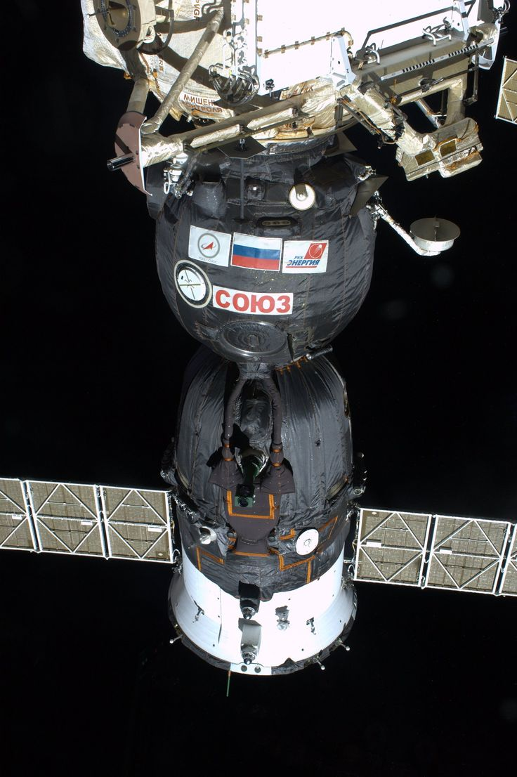 June 1, 2013.  Our Soyuz, TMA-09M.  It brought us safely to the International Space Station just three days ago and will patiently wait to take us back to earth in November. Taken from the Cupola.  KN from space.