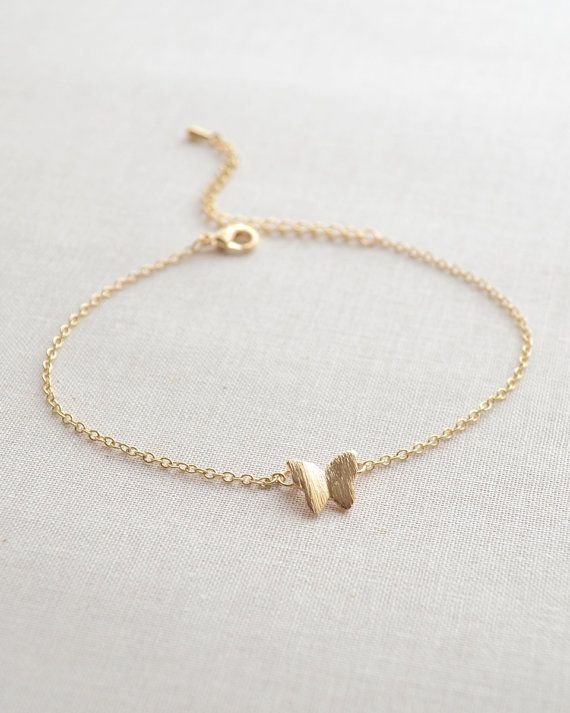 Butterfly Bracelet in gold or silver by Olive Yew.