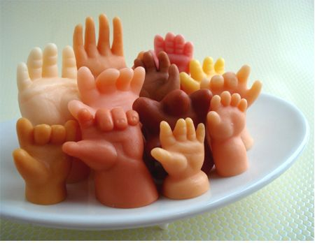 Hand soaps. Really creepy little hand soaps.