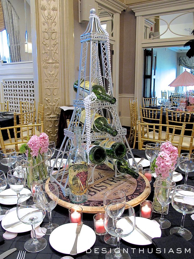 April in paris centerpieces for a spring party centerpieces ballrooms and tablescapes - French themed table decorations ...