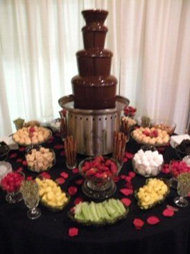 chocolate fountain wedding cake 17 best ideas about wedding reception food on 12702