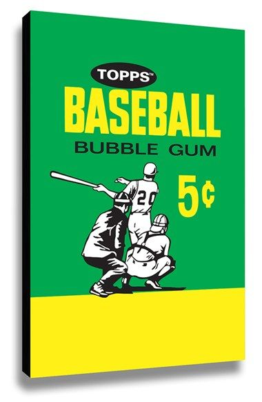 LAMP-IN-A-BOX 'Topps Baseball 1964 Bubblegum Wrapper' Wall Art available at #Nordstrom