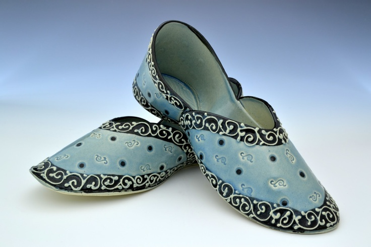 """Ceramic Shoes: Traditional Indian mojaris made for the Nordstrom Exhibit """"Feet of Clay"""" #shoes #fashion #India"""