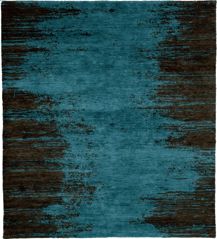 Manaus Dusk Mohair Hand Knotted Tibetan Rug from the Tibetan Rugs 1 collection at Modern Area Rugs
