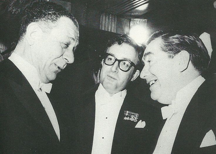 Sid James, Peter Sellers & Tony Hancock. For a bonus point, can you name the film in which all three appeared?