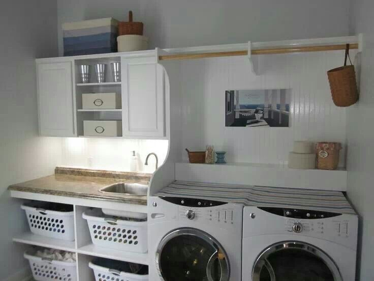 how to set up a laundry room