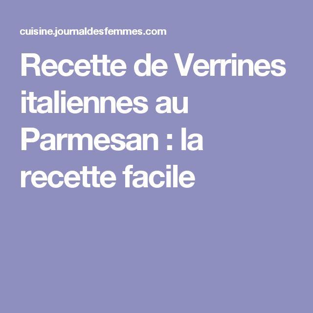 Recette de Verrines italiennes au Parmesan : la recette facile